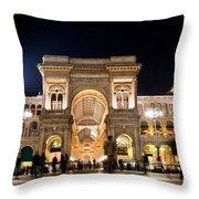 Vittorio Emanuele II Gallery Throw Pillow by Michal Bednarek