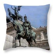 Vittorio Emanuele II Monument In Rome Throw Pillow
