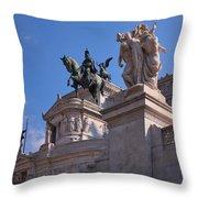 Vittorio Emanuelle Throw Pillow