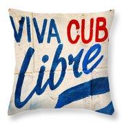 Viva Cuba Libre Sign Throw Pillow