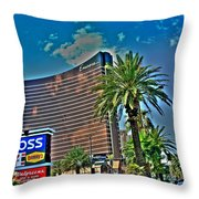Viva Las Vegas Throw Pillow