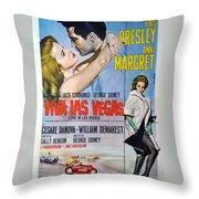 Viva Las Vegas Throw Pillow