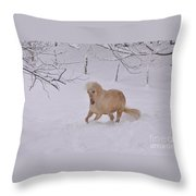 Viva Zapata Contratercero Dances In The Snow Throw Pillow