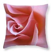 Vivacious Pink Rose 2 Throw Pillow