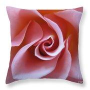 Vivacious Pink Rose 3 Throw Pillow