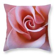 Vivacious Pink Rose 4 Throw Pillow