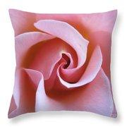 Vivacious Pink Rose 5 Throw Pillow