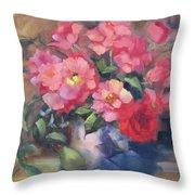 Vivacious Roses Throw Pillow