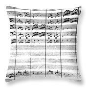 Vivaldi Manuscript Throw Pillow