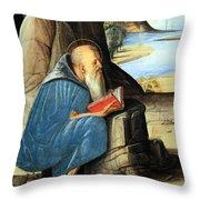Vivarini's Saint Jerome Reading Throw Pillow