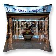 Vive Tus Compras Throw Pillow