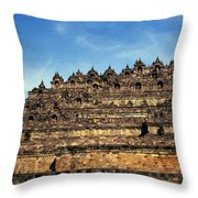 Vivid Borobudur Throw Pillow