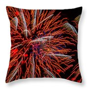 Vivid Red Throw Pillow