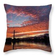 Vivid Skyscape - Summer Sunset At Toronto Beaches Marina Throw Pillow