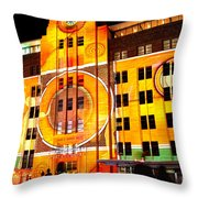 Vivid Sydney 2014 - Museum Of Contemporary Arts 2 By Kaye Menner Throw Pillow