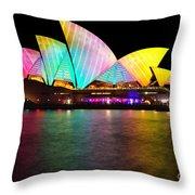 Vivid Sydney 2014 - Opera House 1 By Kaye Menner Throw Pillow