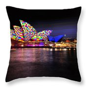 Vivid Sydney 2014 - Opera House 5 By Kaye Menner Throw Pillow