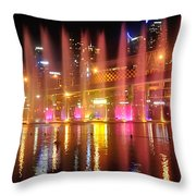 Vivid Sydney By Kaye Menner -  Vivid Aquatique  Throw Pillow