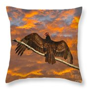 Vivid Vulture Throw Pillow by Al Powell Photography USA