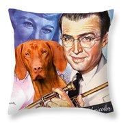 Vizsla Art Canvas Print - The Glenn Miller Story Movie Poster Throw Pillow