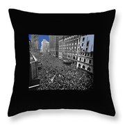Vj Day Times Square New York City 1945 Color Added 2013 Throw Pillow
