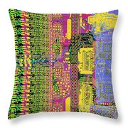 Vo96 Circuit 4 Throw Pillow