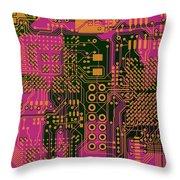 Vo96 Circuit 6 Throw Pillow