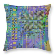 Vo96 Circuit 7 Throw Pillow