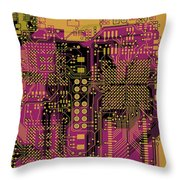 Vo96 Circuit 8 Throw Pillow