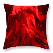 Red Volcanic Dreams Throw Pillow