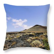 Volcanic Landscape Throw Pillow