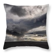 Volcanic Plumes With Poisonous Gases Throw Pillow
