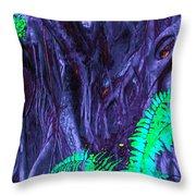 Volcanic Tree 2 Throw Pillow