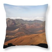 Volcanic Valley Of Cones Throw Pillow