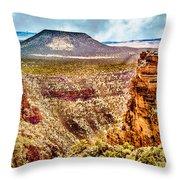 Volcano At Grand Canyon Arizona Throw Pillow