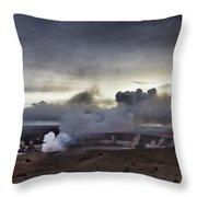 Volcano Crater Big Island Hawaii Throw Pillow