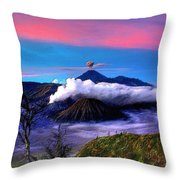 Volcano In The Clouds Throw Pillow