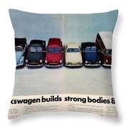 Volkswagen Builds Strong Bodies Eight Ways Throw Pillow