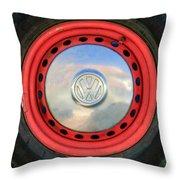 Volkswagen Vw Wheel Emblem Throw Pillow