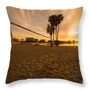 Volley Sunrise  Throw Pillow