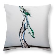 Volleyball Splash Throw Pillow