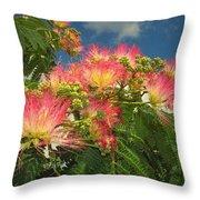 Voluntary Mimosa Tree Throw Pillow