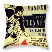 Volunteer State Rivalry Throw Pillow