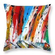 Abstract Sials - Available As A Signed And Numbered Print On Stretched Canvas See Pixi-art.com  Throw Pillow