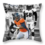 Von Miller Broncos Throw Pillow by Joe Hamilton
