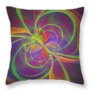 Vortex Abstract Digital Fractal Flame Art Throw Pillow