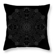 Vortex Inverse Throw Pillow