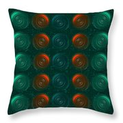 Vortices Throw Pillow