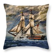 Voyage Of The Cloud Chaser Throw Pillow