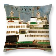 Voyage To Puget Sound Throw Pillow